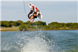 Man doing a wakeboarding trick