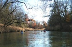 Kayaking the Elm Fork