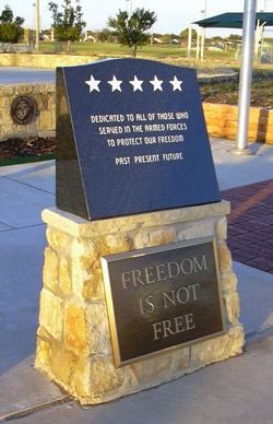 Veterans Monument at The Colony Five Star