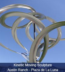 Kinetic Moving Sculpture - Austin Ranch - Plaza de La Luna
