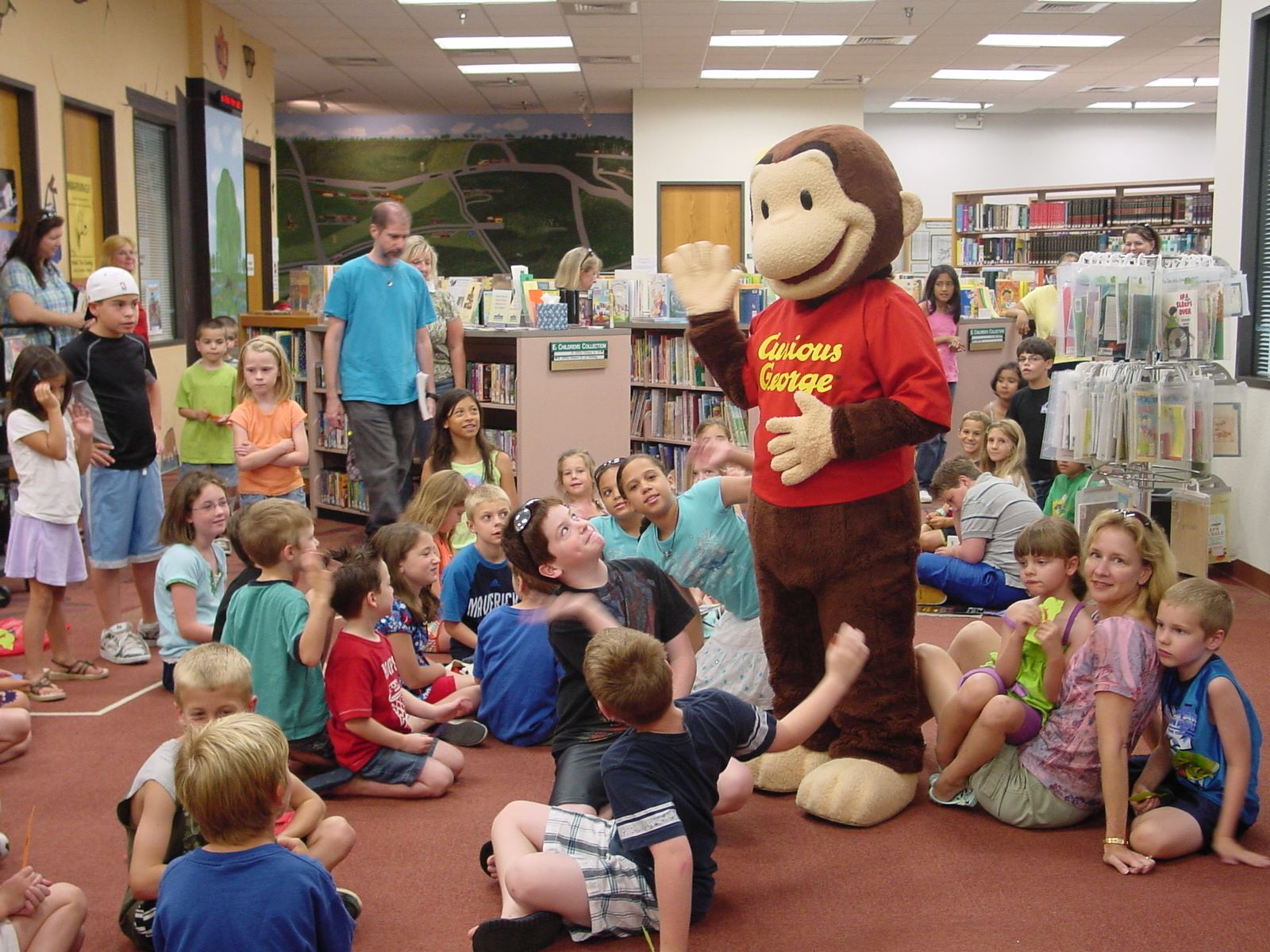 Curious George at The Colony Public Library